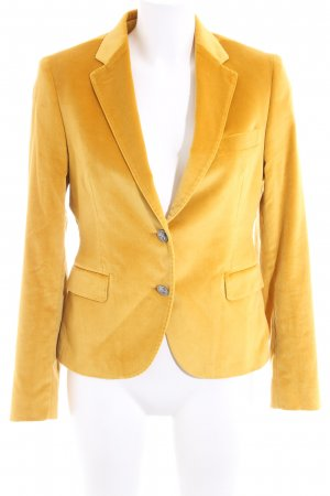 Made in Italy Kurz-Blazer blassgelb Casual-Look