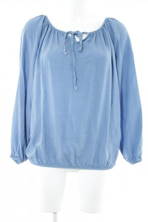 Made in Italy Kurzarm-Bluse graublau Casual-Look