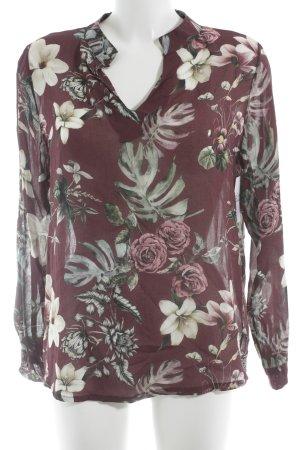 Made in Italy Langarm-Bluse Blumenmuster Elegant