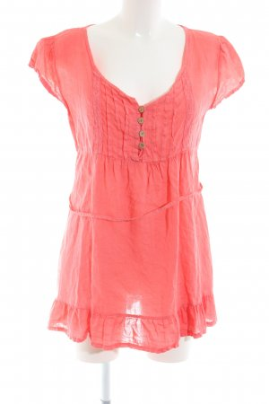 Made in Italy Long-Bluse rot Casual-Look