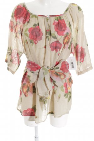 Made in Italy Long-Bluse Blumenmuster klassischer Stil