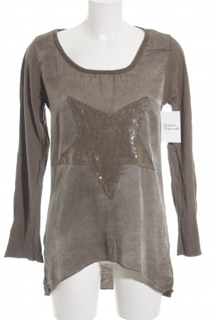 Made in Italy Longsleeve taupe Casual-Look