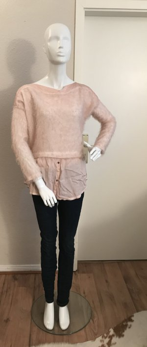 Made in Italy Oberteil Pullover Shirt rose 40