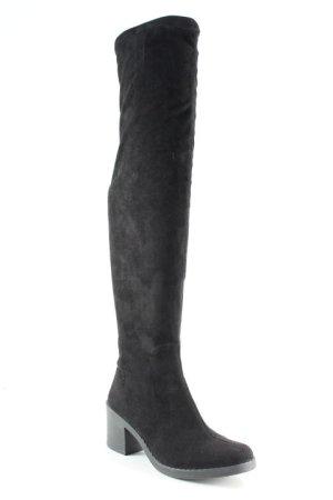 Made in Italy Overknees schwarz Casual-Look