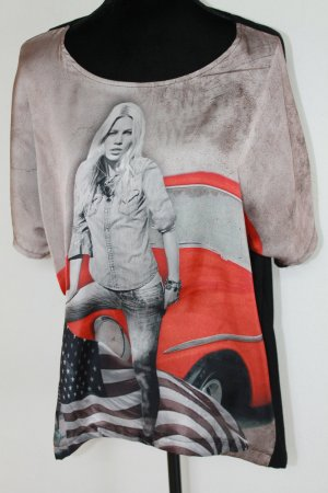 """MADE IN ITALY """"Printbluse Oversized"""""""