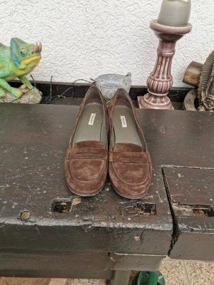 Parlanti Chaussure à talons carrés brun cuir