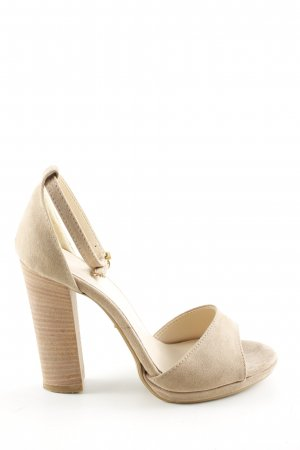 Made in Italy Tacones de tiras crema estilo «business»