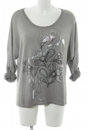Made in Italy Rundhalspullover Paisleymuster Casual-Look