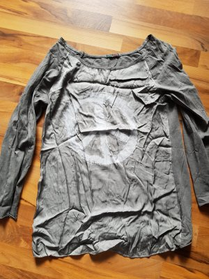 Made in Italy Camisa color plata-gris claro
