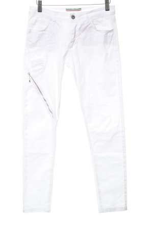 Made in Italy Skinny Jeans weiß Casual-Look