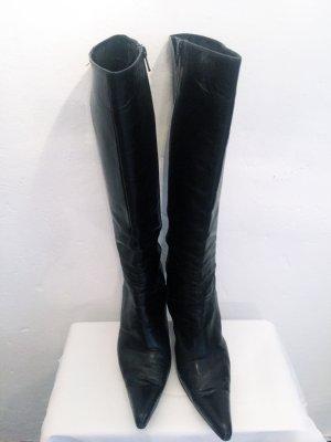 MADE IN ITALY Stiefel aus echtem Leder. Absatz ca. 10, Schaft ca. 38, vorne ziemlich spitz