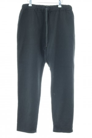 Made in Italy Stoffhose blau Allover-Druck Casual-Look