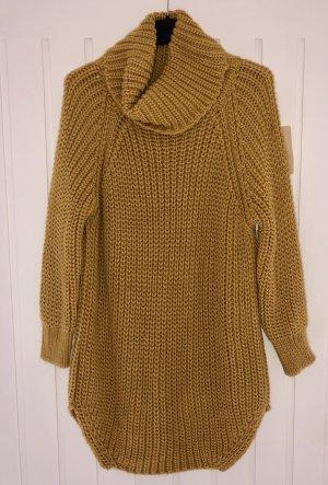 Made in Italy Gebreide jurk goud Oranje
