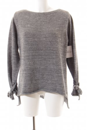 Made in Italy Strickpullover grau meliert Casual-Look