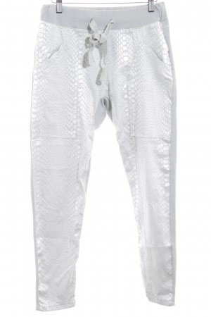 Made in Italy Pantalon de jogging gris-gris clair motif animal style athlétique