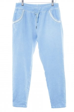 Made in Italy Pantalone fitness blu neon-bianco stile casual