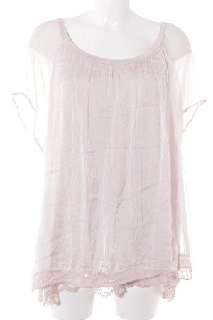 Made in Italy Camiseta rosa empolvado elegante