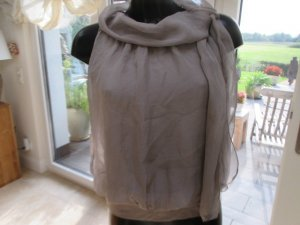 Made in Italy Top Oberteil 100 % Seide beige One Size