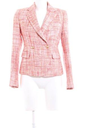 Made in Italy Tweedblazer rot-weiß meliert Business-Look