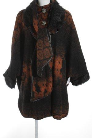 Made in Italy Übergangsjacke schwarz-dunkelorange abstraktes Muster