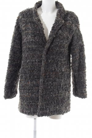 Made in Italy Wollmantel hellgrau meliert Casual-Look