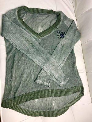 Italy Long Sweater green grey