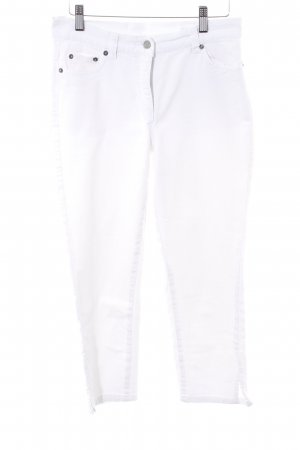 Madeleine Jeans a 7/8 bianco stile casual
