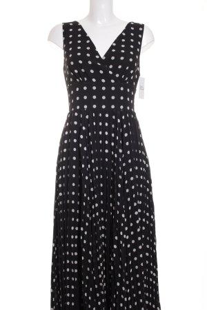 Madeleine A-Linien Kleid schwarz-weiß Punktemuster Elegant