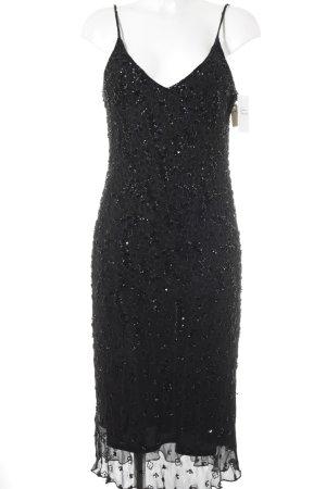 Madeleine Abendkleid schwarz florales Muster Elegant