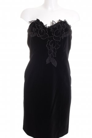 Madeleine Vestido bandeau negro-verde oscuro elegante