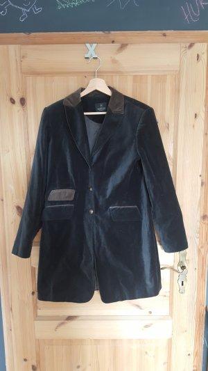Madeleine Geklede jas donkergrijs-lichtbruin