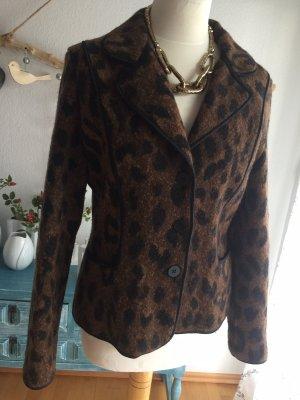 Madeleine Tweed blazer zwart-bruin