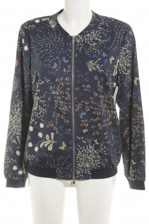 Madeleine Blouson dark blue-cream flower pattern casual look