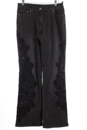 Madeleine Boot Cut Jeans anthrazit-schwarz extravaganter Stil