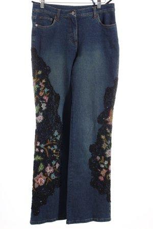 Madeleine Boot Cut Jeans florales Muster extravaganter Stil