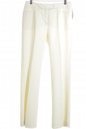 Madeleine Pleated Trousers pale yellow business style