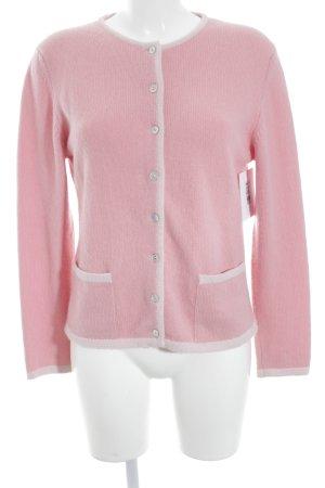 Madeleine Cardigan rosa-weiß Paris-Look