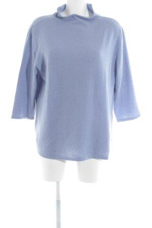 Madeleine Sudadera de cachemir azul aciano estilo sencillo