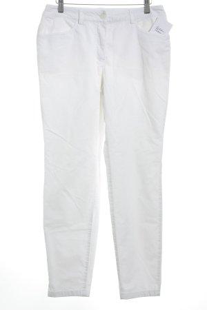 Madeleine Pantalon en velours côtelé blanc style décontracté