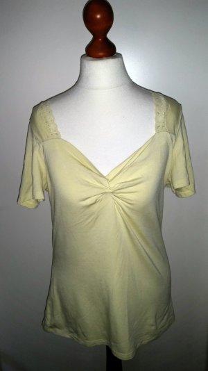 Madeleine, edles Knoten-Spitzen-Shirt, Gr. 40