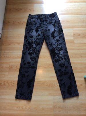 Madeleine Flockprint Jeans Gr 36 schwarz/ grau