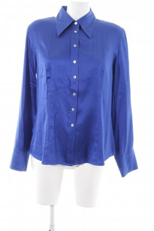 Madeleine Blouse brillante bleu style d'affaires