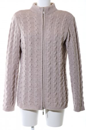 Madeleine Coarse Knitted Jacket natural white cable stitch casual look