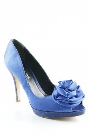 Madeleine High Heels blau Materialmix-Look