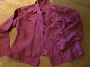 Madeleine Denim Blazer pink silk