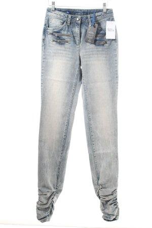 Madeleine Jeans graublau Bleached-Optik