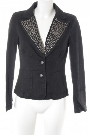 Madeleine Denim Blazer black-grey brown business style