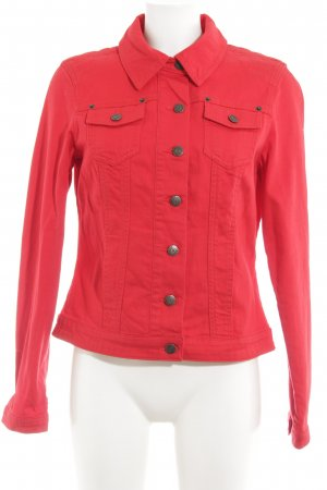 Madeleine Jeansjacke rot Casual-Look