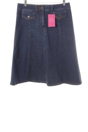 Madeleine Jupe en jeans bleu foncé style décontracté