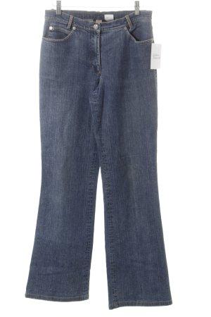 Madeleine Jeansschlaghose dunkelblau Jeans-Optik